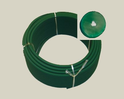 "12mm (0.472"") Rough Green REINFORCED 88A Cord, 100' - Click Image to Close"