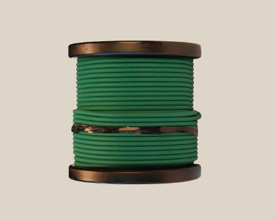 "SPECIAL: 4mm (5/32"") Rough Green 85A Cord, 100' - Click Image to Close"