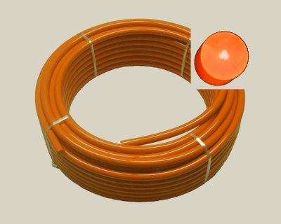 "5/8"" (15mm) Orange REINFORCED 83A Cord, 100' - Click Image to Close"
