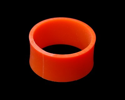 "Flat 3/32"" x 5/8"" (0.625"") Wide 83A Orange - Click Image to Close"