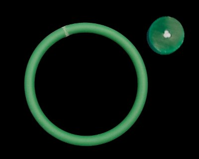 "10mm (0.39"") Rough Green 88A Reinforced - Click Image to Close"