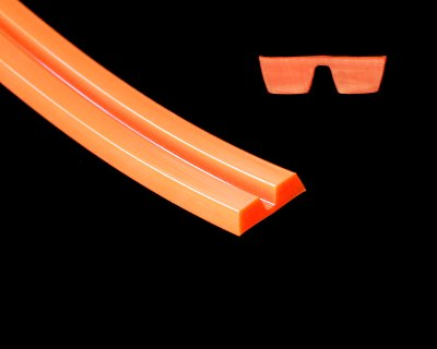 Twin A-sec V-Belt 83A Orange - Click Image to Close